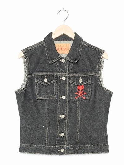 GUESS Jeansweste in S-M in black denim, Produktansicht