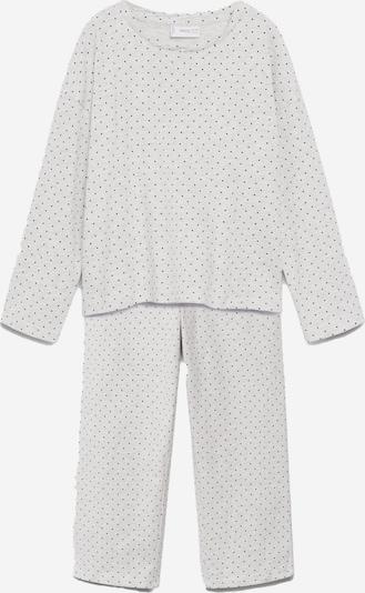 MANGO KIDS Pyjama in hellgrau / schwarz, Produktansicht