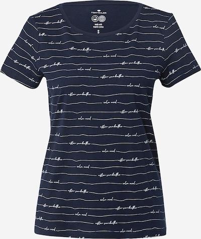 Tricou TOM TAILOR pe bleumarin / alb, Vizualizare produs