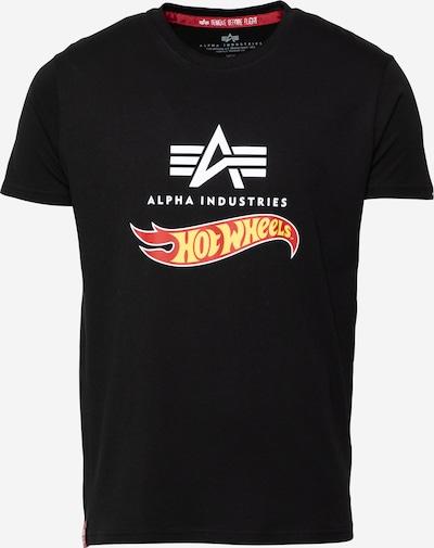 Tricou 'Hot Wheels' ALPHA INDUSTRIES pe galben / roșu / negru / alb, Vizualizare produs