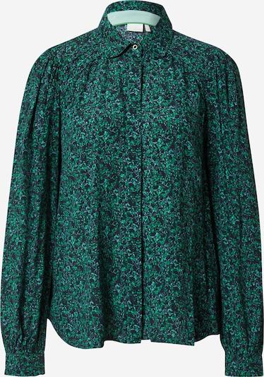 Bluză 'NUCHRISTI' NÜMPH pe albastru deschis / verde / negru, Vizualizare produs
