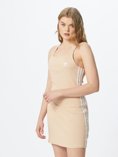 ADIDAS ORIGINALS Šaty - světle béžová / bílá, Model/ka