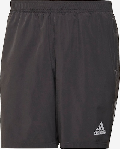 ADIDAS PERFORMANCE Sportbroek 'Own the Run' in de kleur Antraciet / Wit, Productweergave