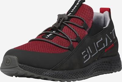 bugatti Sneaker 'JAVA' in grau / dunkelrot / schwarz, Produktansicht