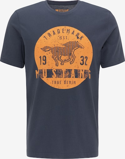 MUSTANG T-Shirt in blau / dunkelblau / orange, Produktansicht