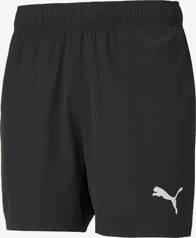 PUMA Sportbroek in de kleur Zwart / Wit, Productweergave