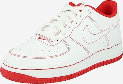 Nike Sportswear Сникърси 'Force 1' в червено / бяло: Изглед отпред
