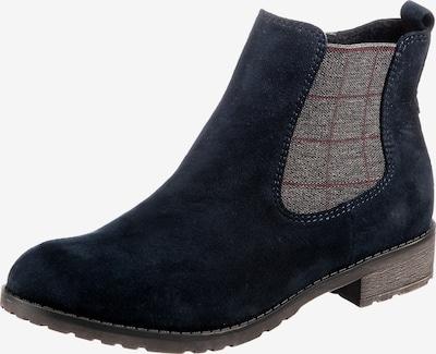 JANE KLAIN Chelsea Boot in dunkelblau / taupe / kirschrot, Produktansicht