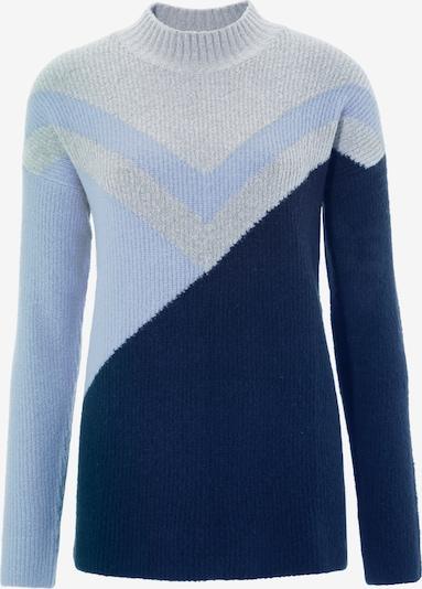 Aniston CASUAL Pullover in navy / hellblau / hellgrau, Produktansicht