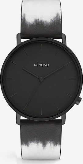 Komono Uhr in schwarz / weiß, Produktansicht