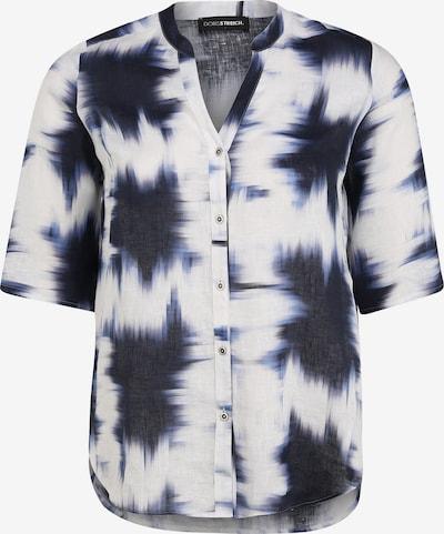 Doris Streich Bluse mit V-Ausschnitt in blau, Produktansicht