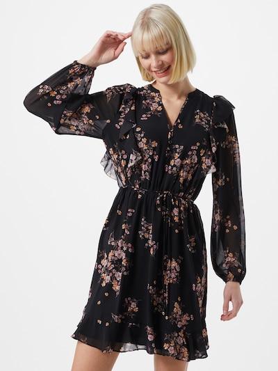 Forever New Kleid in braun / pastellorange / rosa / altrosa / schwarz, Modelansicht