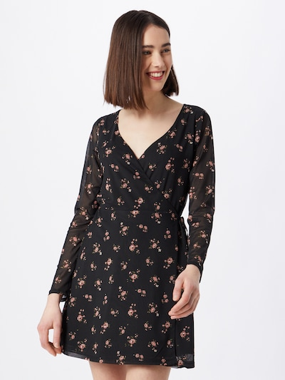 HOLLISTER Kleid in hellgrün / pink / schwarz, Modelansicht