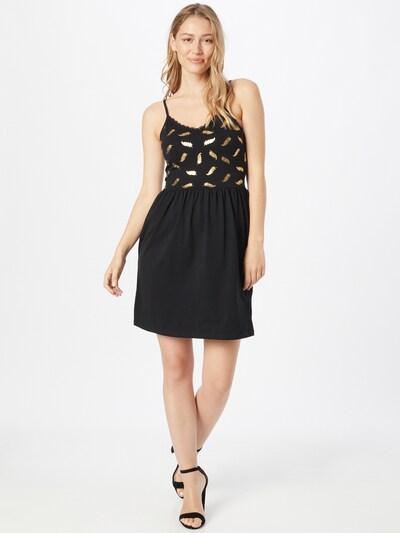 ONLY Kleid 'AMBER' in goldgelb / schwarz, Modelansicht