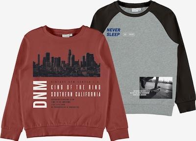 NAME IT Sweatshirt 'Vildar' i blå / gråmelerad / röd / svart / vit: Sedd framifrån