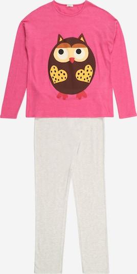 UNITED COLORS OF BENETTON Pyjama en beige / marron / jaune / rose / blanc, Vue avec produit