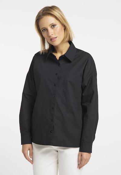 DreiMaster Klassik Bluse in schwarz, Modelansicht