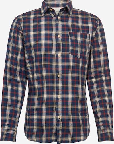 SELECTED HOMME Hemd 'SLHMATTHEW' in dunkelblau / kastanienbraun / wollweiß, Produktansicht
