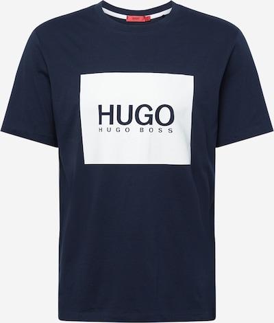 HUGO Tričko - tmavě modrá / bílá, Produkt