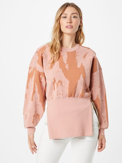 DIESEL Пуловер 'ALABAMA' в карамел / светлорозово: Изглед отпред