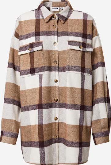 Noisy may Blusa 'LANNY' en beige / marrón claro / gris oscuro, Vista del producto