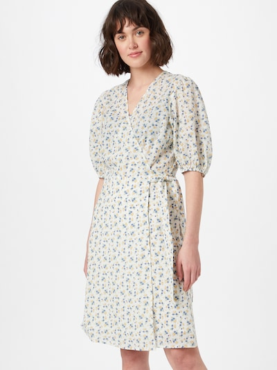 minimum Kleid 'LENELIA' in blau / gelb / naturweiß, Modelansicht
