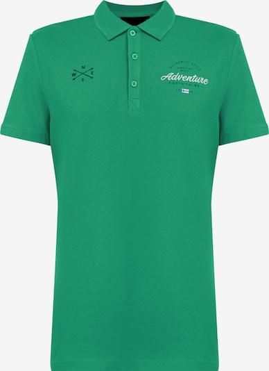 Finn Flare Poloshirt in grün, Produktansicht
