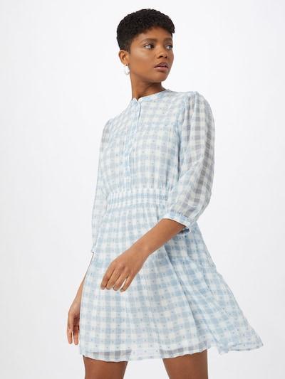 ONLY Sukienka koszulowa w kolorze jasnoniebieski / białym, Podgląd na modelu(-ce)