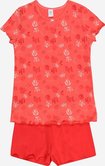 SANETTA Pyjama in melone / hellrot / weiß, Produktansicht