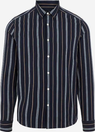 J.Lindeberg Overhemd in de kleur Navy / Bruin / Wit, Productweergave