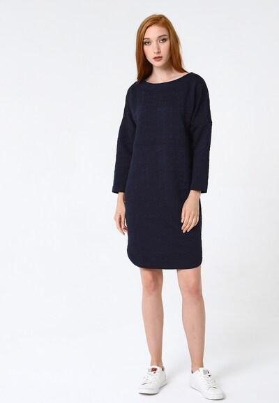 Madam-T Kleid 'Leonie' in blau, Modelansicht