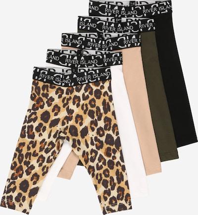 River Island Leggings in beige / oliv / pink / schwarz / weiß, Produktansicht