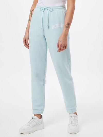 American Eagle Панталон в пастелно синьо / бяло: Изглед отпред