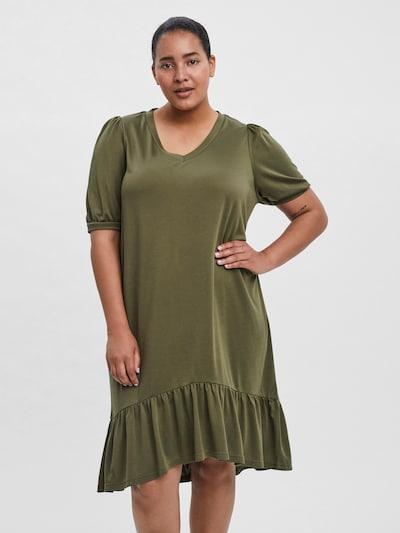 Vero Moda Curve Kleid 'Vita' in khaki, Modelansicht