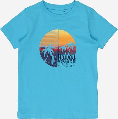 BLUE SEVEN T-Shirt in türkis / dunkelblau / orange, Produktansicht