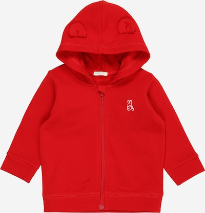UNITED COLORS OF BENETTON Sweatjacke in rot / weiß, Produktansicht