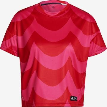 ADIDAS PERFORMANCE T-Shirt 'MARIMEKKO' in Rot