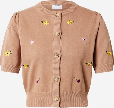 Cotton On Knit cardigan in Light brown / Yellow / Purple / Pink / White, Item view
