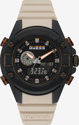 GUESS Digitaluhr in beige / orange / schwarz, Produktansicht