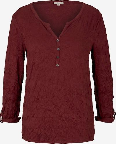 TOM TAILOR Shirt in dunkelrot, Produktansicht