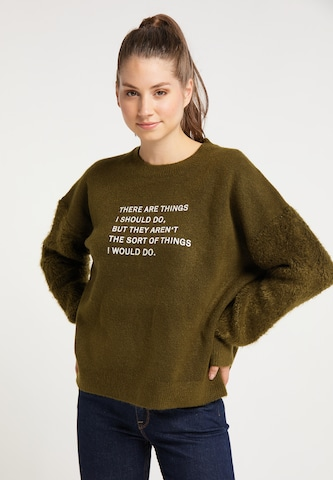 MYMO Oversized Sweater in Green