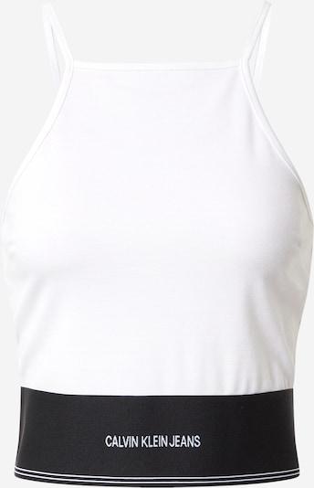Calvin Klein Jeans Top 'Milano' in schwarz / weiß, Produktansicht