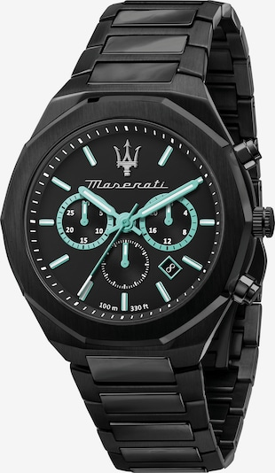Maserati Analoog horloge in de kleur Turquoise / Zwart, Productweergave