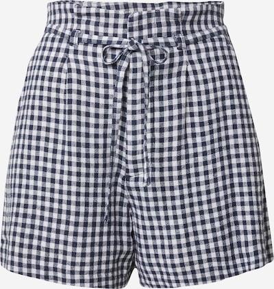 Abercrombie & Fitch Shorts in dunkelblau / weiß, Produktansicht