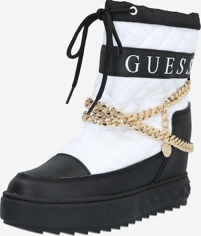GUESS Stiefel 'FARIBA' in schwarz / weiß, Produktansicht