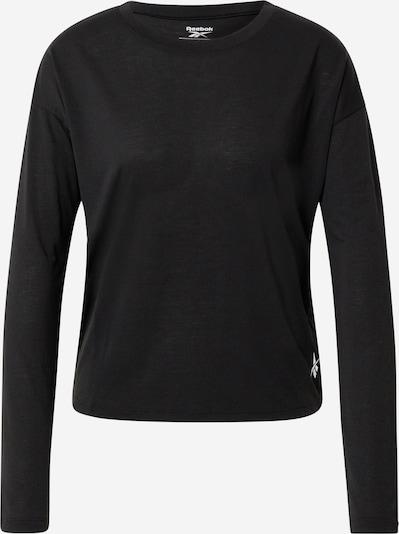REEBOK T-shirt fonctionnel en noir / blanc, Vue avec produit