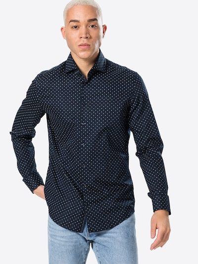 SEIDENSTICKER Риза в нейви синьо / бяло: Изглед отпред