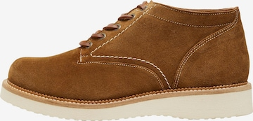 SELECTED HOMME Boots med snörning 'Teo' i brun