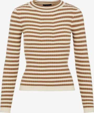 PIECES Sweater 'Crista' in Brown