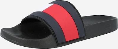 TOMMY HILFIGER Cipele za plažu/kupanje u tamno plava / crvena / crna / bijela, Pregled proizvoda